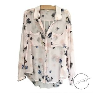 Anthropologie Cloth & Stone Floral Button-down